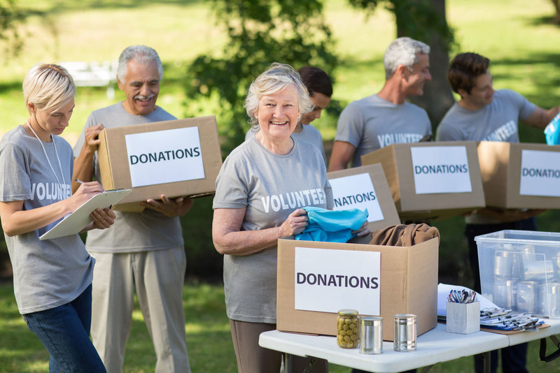 volunteer donation drive